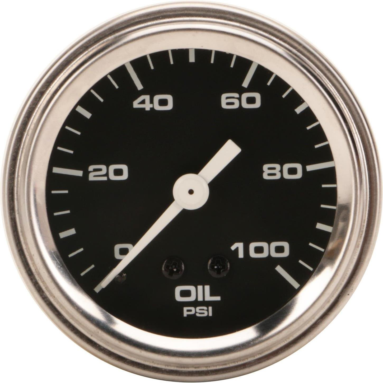 Mechanical Oil Pressure Gauge, 2-1/16 Inch, Black by Speedway Motors