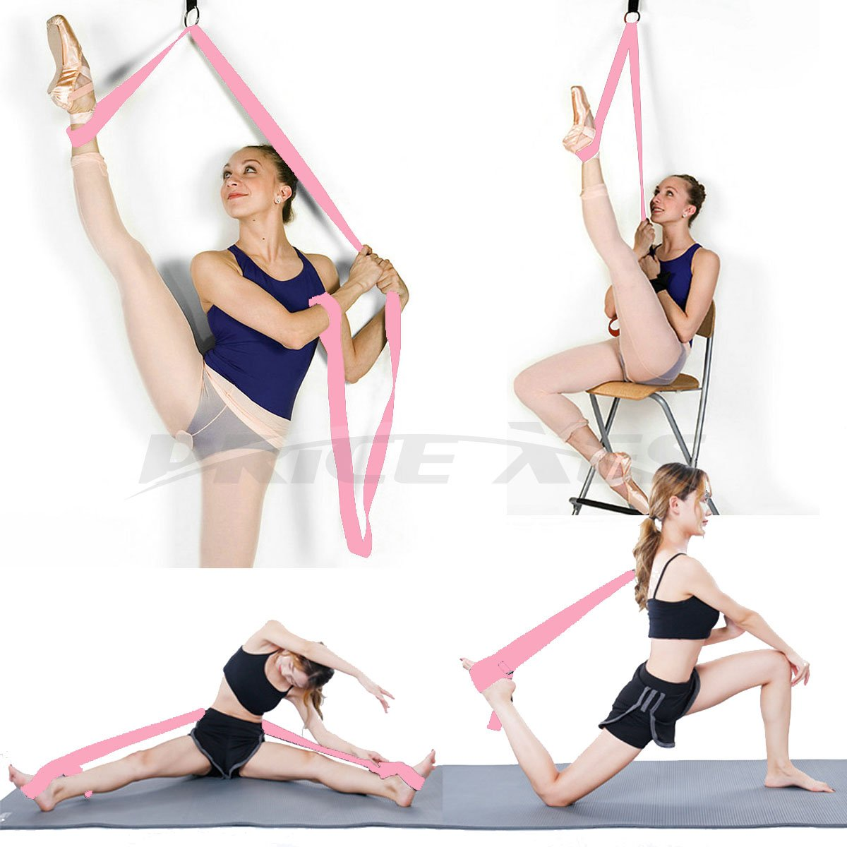 Price Xes Leg Ballet Yoga Stretcher, Door Attachment Get More Flexible, Flexibility & Stretching Leg Straps - Great for Cheer Dance Gymnastics or Any ...
