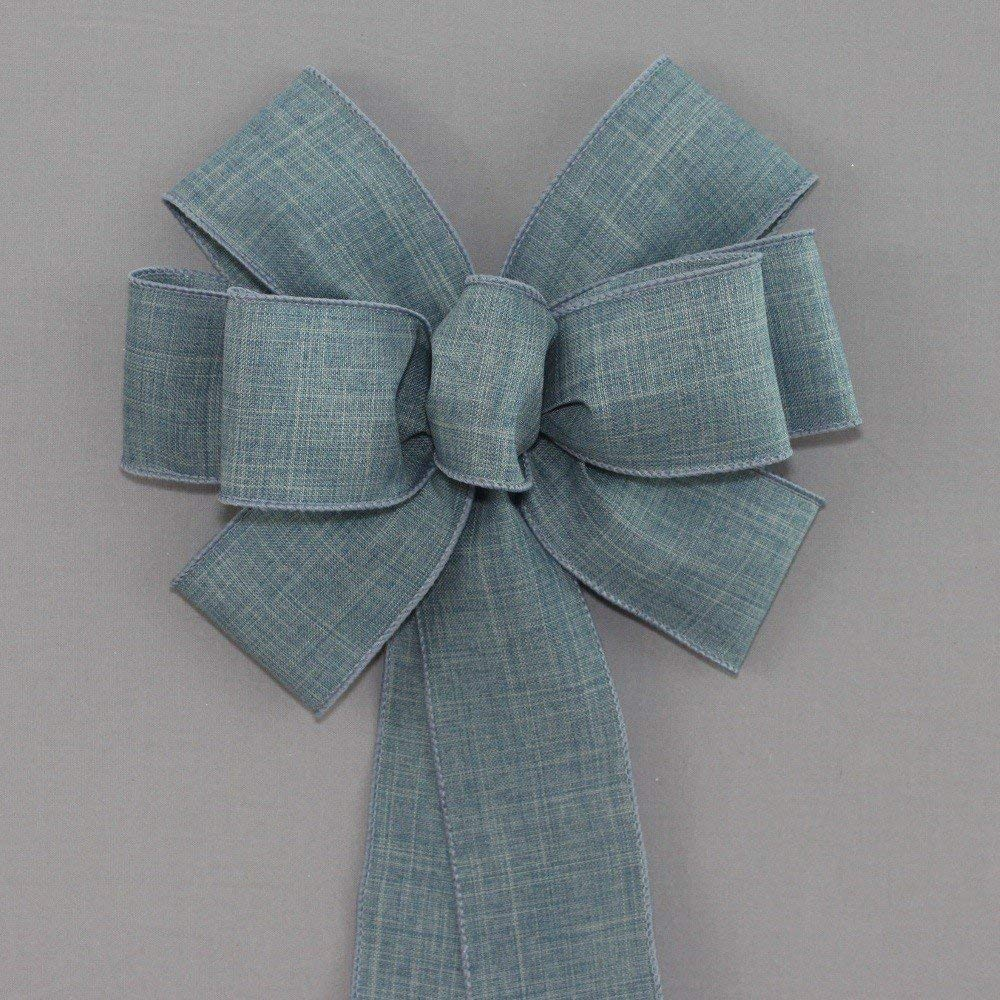 Denim Blue Rustic Wreath Bow - Color Options - available in 2 sizes