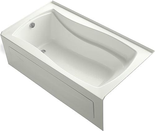 Kohler K-1229-LA-NY Mariposa 5.5Ft Bath with Integral Apron and Left-Hand Drain, Dune