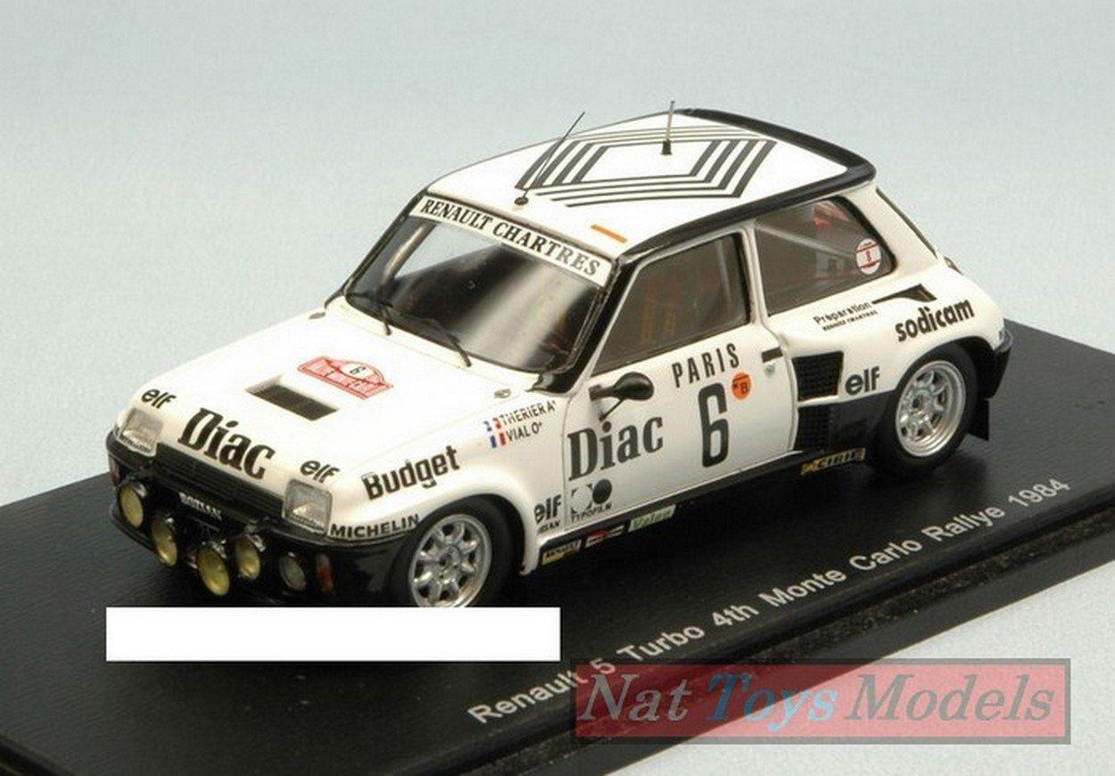 Spark Model S3861 Renault 5 Turbo N.6 Montecarlo 1984 J.L.THERIER-M.Vial 1:43: Amazon.es: Juguetes y juegos