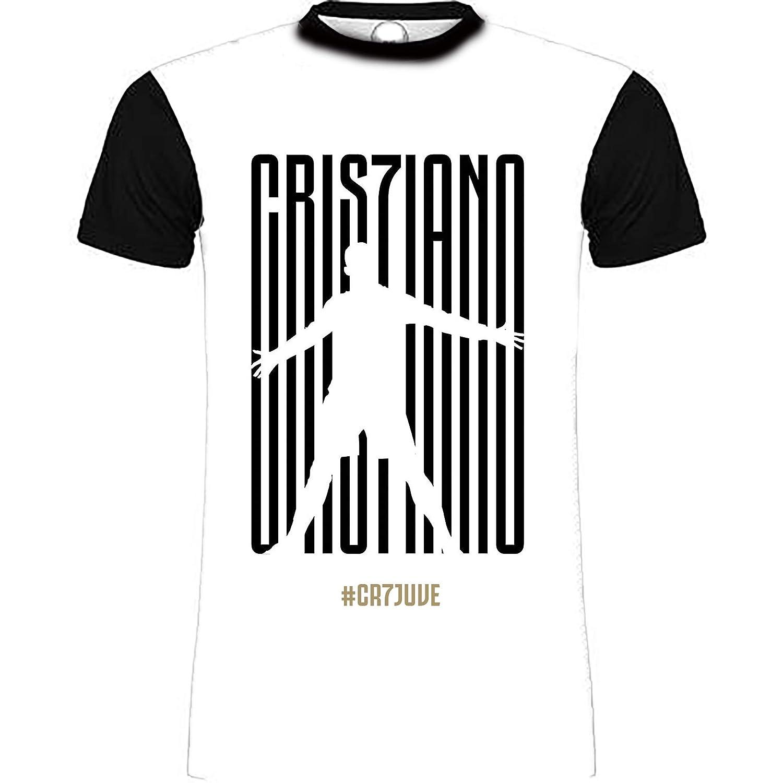 AFFARI DI FAMIGLIA Maglietta T-Shirt Maglia Cristiano Ronaldo CR7 Personalizzata Juventus Juve Modello Bimbo Bambini Ragazzi Colore Bianco