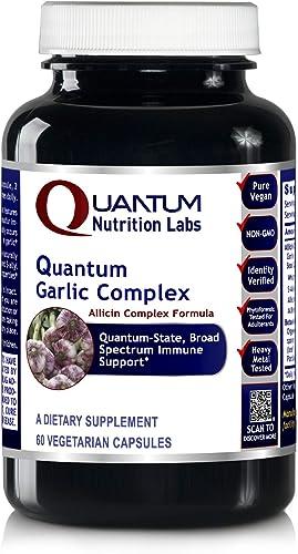 Quantum Garlic Complex – 60 Veg caps – Allicin Botantical Formula Quantum-State, Broad Spectrum Immune Support