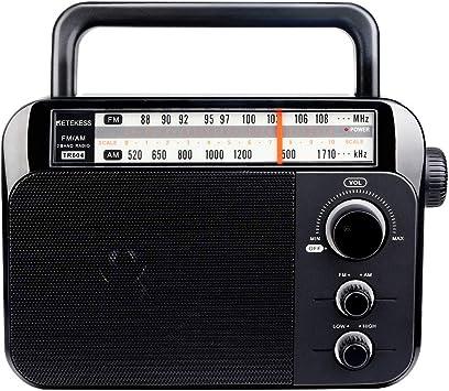 Retekess TR604 Radio FM/Am Radio Portátil con Altavoz Grande Compatibilidad con Batería Alcalina o Alimentación de CA Fácil de Usar para Personas Mayores: Amazon.es: Electrónica