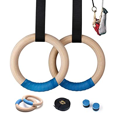 Fitness Gymnastics Rings Buckle Straps Exercise Pull Ups Muscle Training Tools