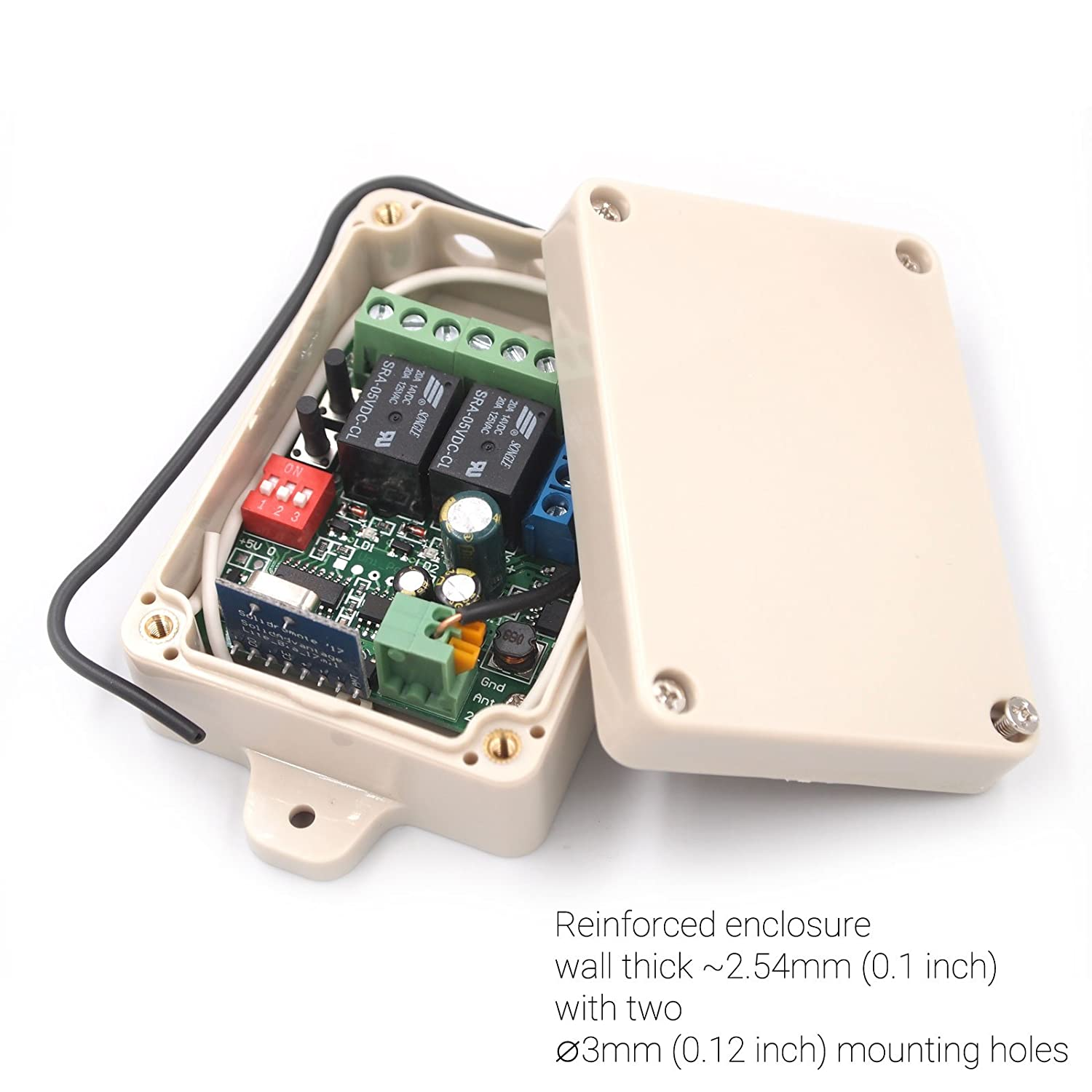 Solidremote 12v 24v Secure Wireless Rf Remote Control Relay Switch Controller Using A Dpdt Tech And Code Universal 2 Channel 433mhz Receiver With Fcc Id Transmitters For Garage Door Openers