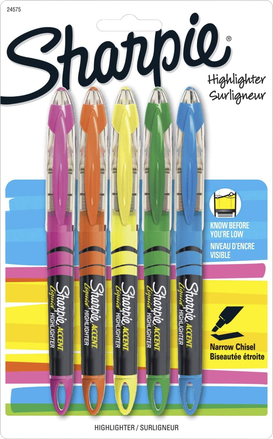 Sharpie Liquid Highlighters, Chisel Tip, Assorted, 10 Pack: Amazon ...