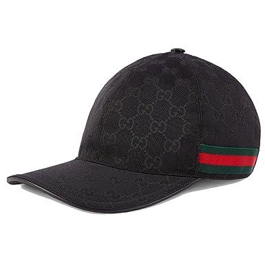 2b2898e1 Amazon | [グッチ] GUCCI キャップ GG キャンバスベースボール 帽子 ...