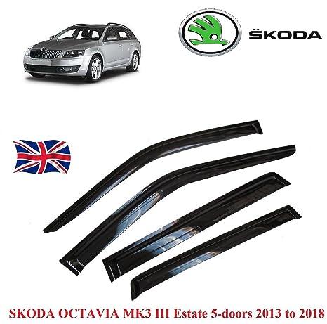 Arange Skoda Octavia MK 13 a 18 Deflector Visor Vent toldo Negro Guardia M210