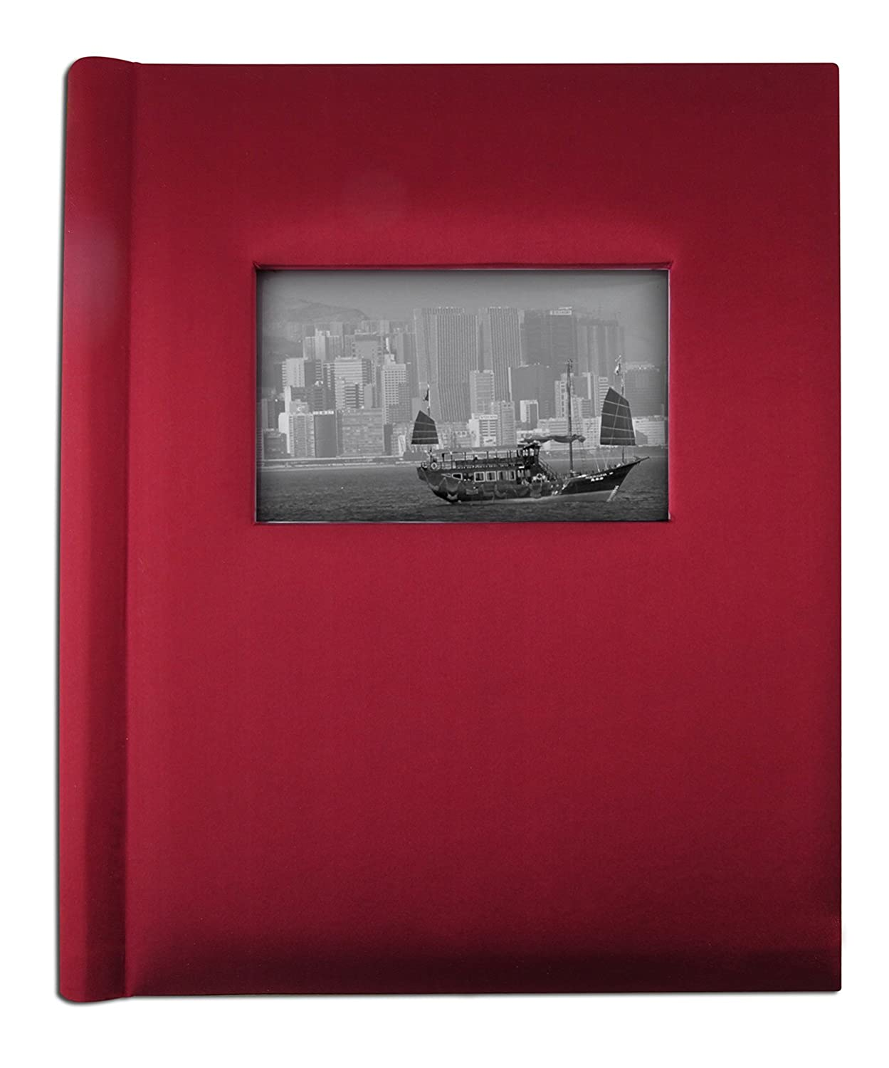 Creat-A-Memory - Family Photo Album + Voice Recording Scrapbook + Talking Milestone Journal + Perfect Gift For Anniversary, Vacations, Wedding + 20 Pages + 9in x 12in + Red Satin Xtech (HK) Limited CAM200RD