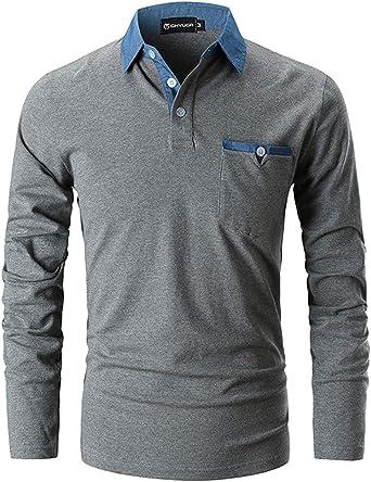 MAGLIA Polo da uomo con tasca interna molti colori e dimensioni Polo Camicia