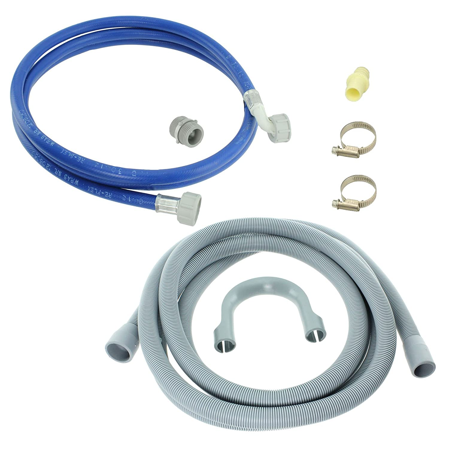 Spares2go Water Fill Pipe & Drain Hose Kit For Bosch Dishwasher (2.5M)