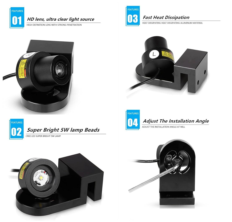 Amazon.com: IRONSKY - Proyector de luz LED universal para ...