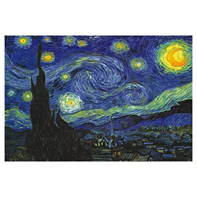 Jigsaw Puzzle, 1000 Pieces Starry Night Jigsaw Puzzles, Cardboard Puzzles, Educational Games, Brain Challenge Puzzle, Themes Puzzle Sets for Family, Adults Kids Childrens: Toys & Games