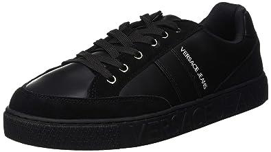 Versace Jeans Scarpe-Uomo, Chaussures de Gymnastique Homme, Noir (Nero E899) 9a8898719b3
