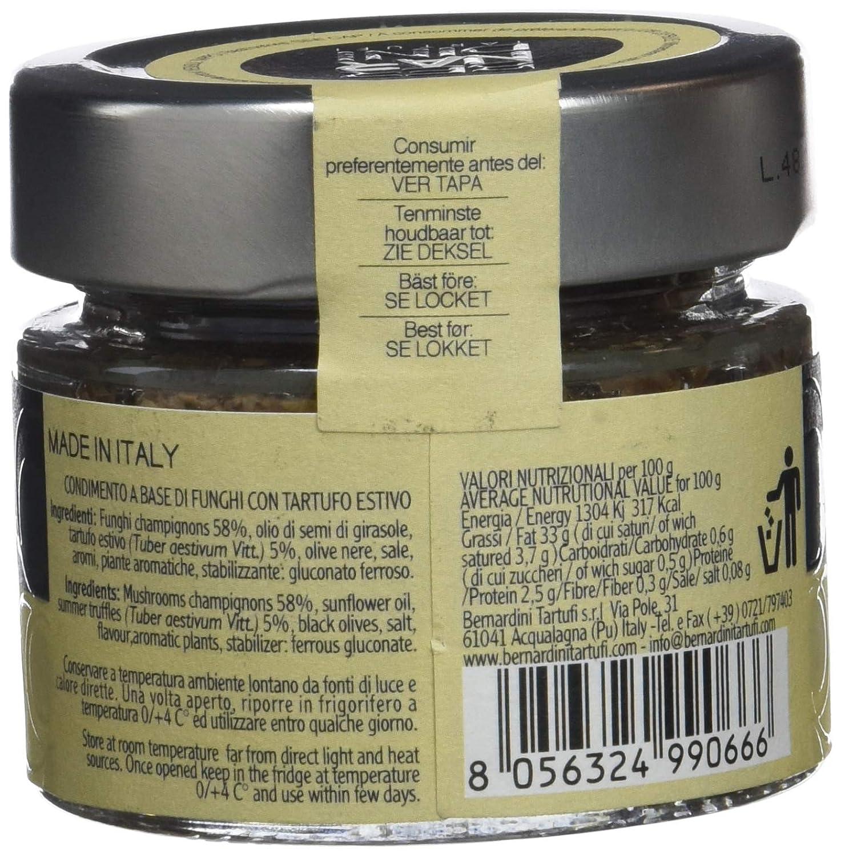 Bernardini Tartufi Tartufata Setas y Trufa en Aceite - 3 Paquetes de 1 x 80 gr - Total: 240 gr: Amazon.es: Alimentación y bebidas