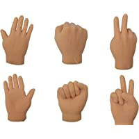 TheGag Finger Hands Rock Paper Scissors-Game Set of 6 Hands-2 Each Tiny Finger Hand-Realistic Feeling-Soft Finger Puppets