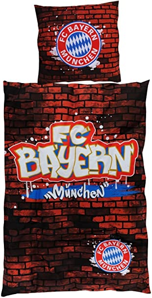 Bertels 17400 Fc Bayern München Bettwäsche Graffiti Amazonde