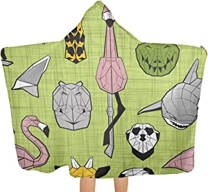 simple socks Flamingos Hippos Giraffes Sharks Crocs Sloths Meerkats and Toucans-Beach Towel with Cap is Soft in Material, Good in Water Absorption, Fast Drying, Light and Easy to Carry.