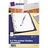 Avery 11313 Preprinted Tab Dividers, 12-Tab, 8 1/2 x 5 1/2