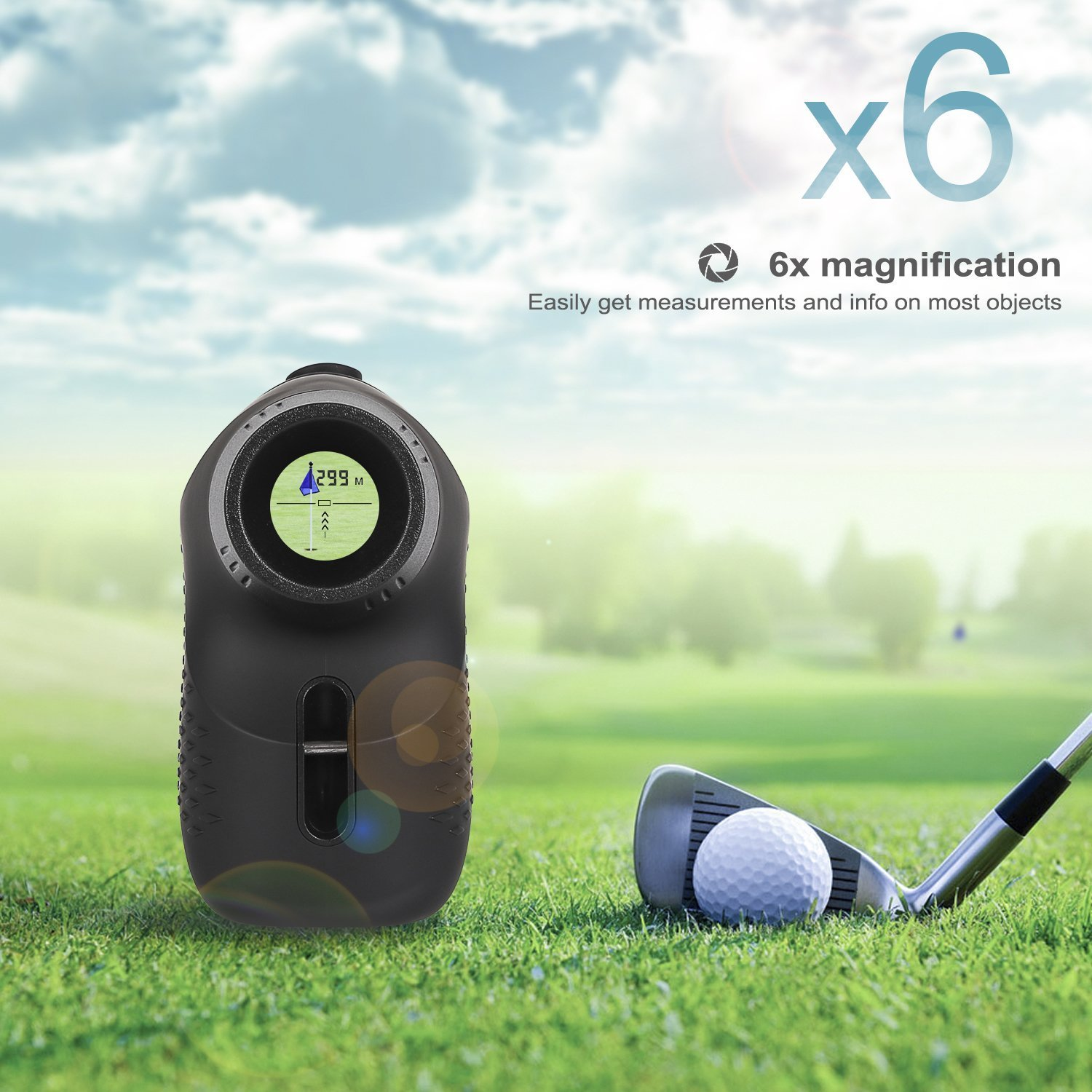 DEKO Golf Laser Rangefinder,Laser Range Finder with Slope, Fog,Scan,Precision Speed Measurement by DEKO (Image #5)