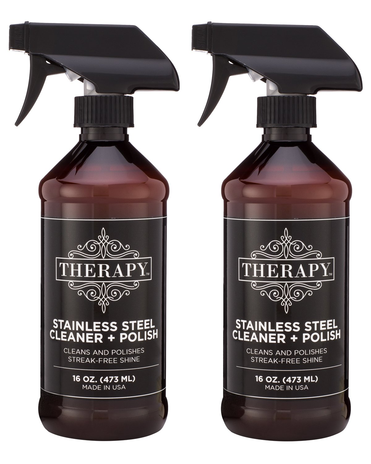 Therapy Premium Stainless Steel Cleaner & Polish 16 oz. (2 Pack) by Therapy