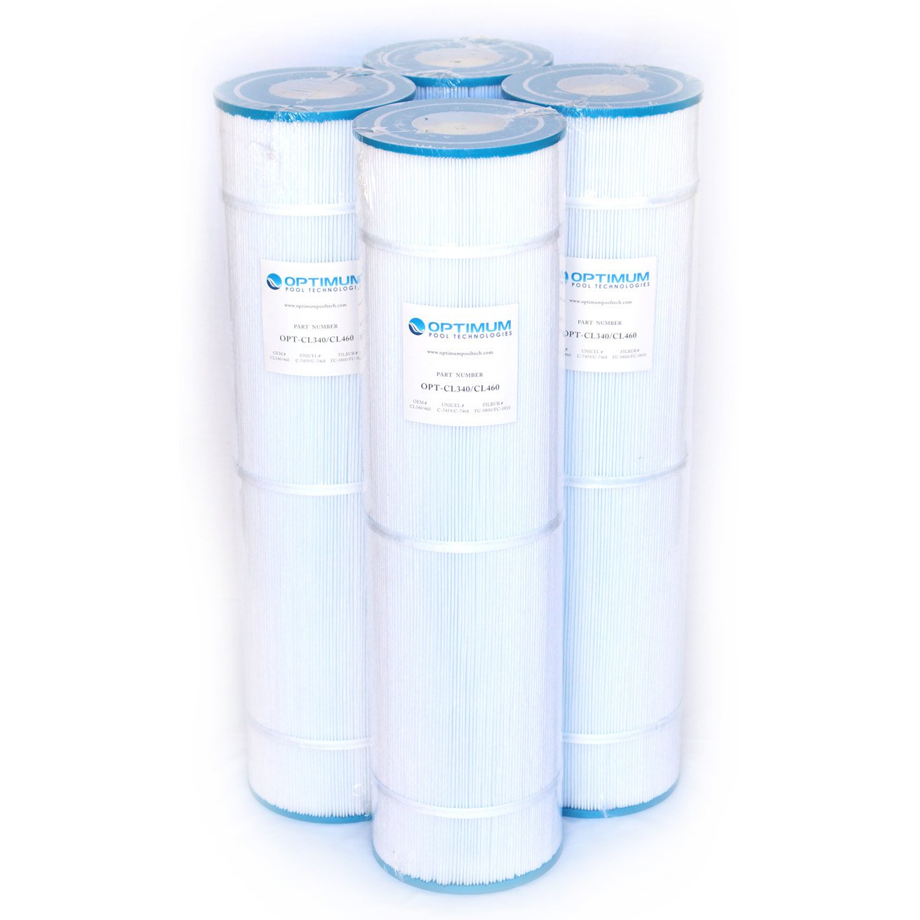 Pool Filter 4-Pack, Replaces Jandy CL460 R0554600, Unicel C-7468, Filbur FC-0810, & Pleatco PJAN115 Filter Cartridges