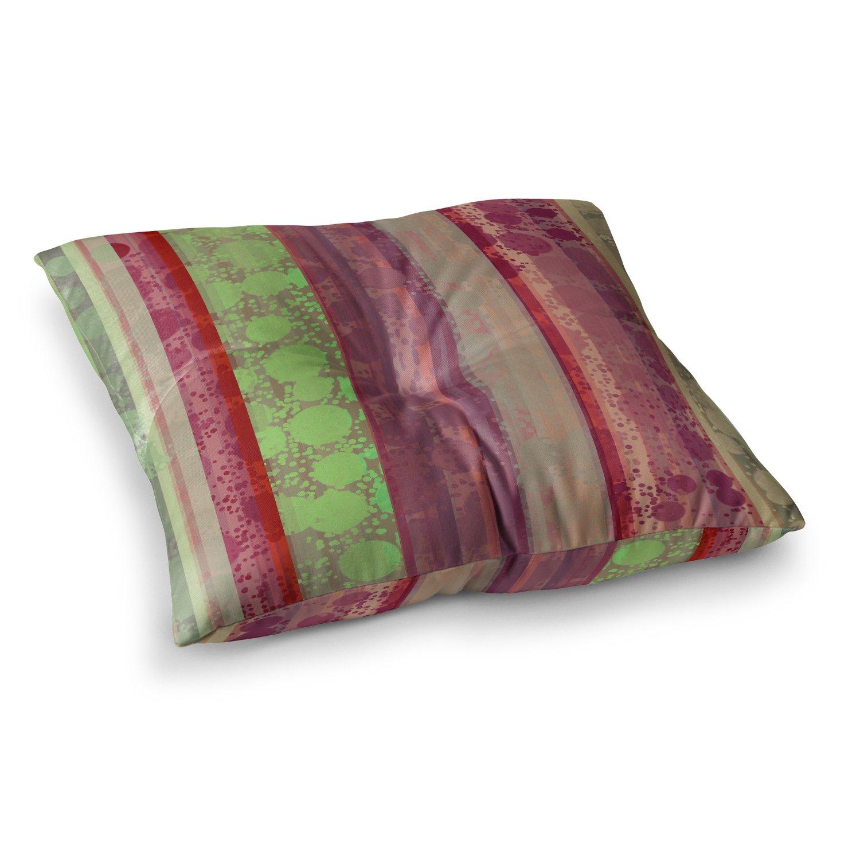 23 x 23 Square Floor Pillow Kess InHouse Cvetelina Todorova Magic Carpet Green Maroon