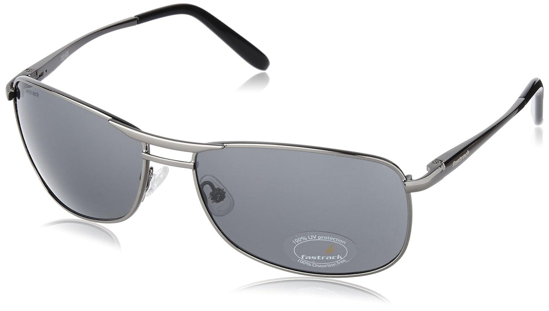 cd2076d75429 Fastrack Semi-Rimless Men's Sunglasses - (M032BK2|72|Black): Amazon.in:  Clothing & Accessories