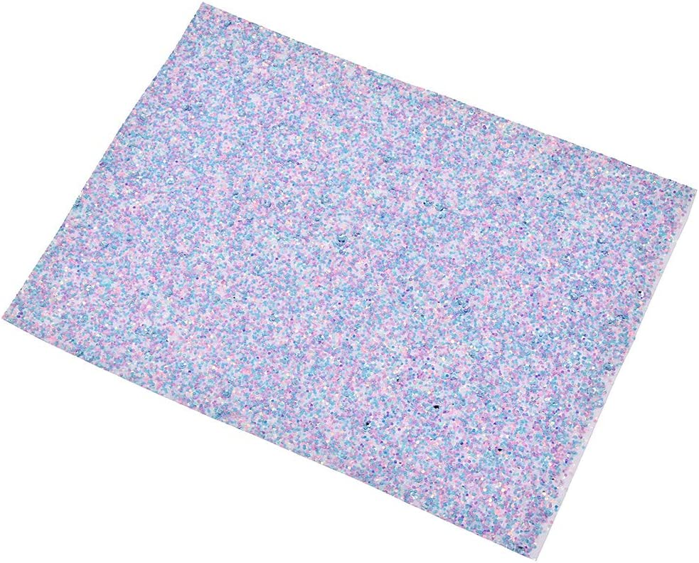 CHZIMADE 0.5 Yard Leopard Printed Fabric Faux DIY Sheet Canvas Back Great for Hair Bows Making Craft