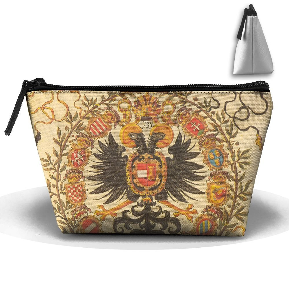 Coat Of Arms Of Germany Cute Trip Toiletry Bag Trapezoidal Zipper Receive Bag Travel Fashion by BabylLave (Image #1)