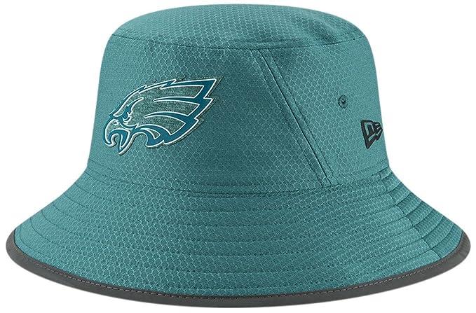 f1007a0784b Philadelphia Eagles New Era 2018 Training Camp Primary Bucket Hat Green