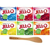 Jell-O Variety Pack, Berry Blue, Strawberry, Raspberry, Lemon, Orange, and Lime, 1 Box of Each (6 Pack) - with Spice of Life