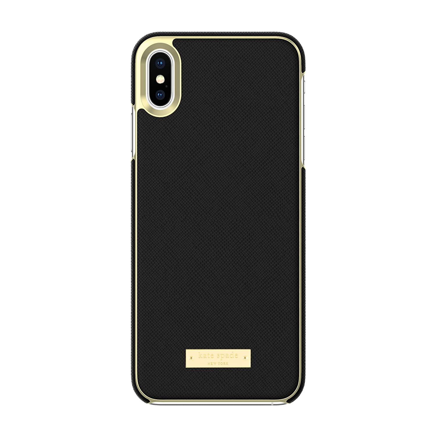 cheap for discount 492d8 7da75 Kate Spade New York Phone Case | For Apple iPhone XS Max | Protective Phone  Cases with Wrap Design and Drop Protection - Saffiano Black / Gold Logo ...
