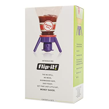 Flip-It FLSK6 Deluxe Bottle Emptying Kit with 6 Adapters and Storage Bag, 6-Pack