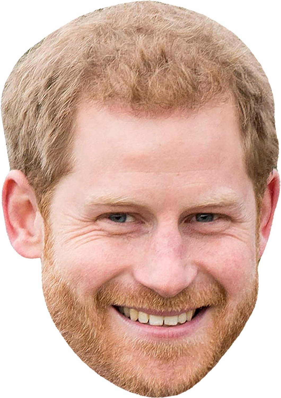Multi Shatchi 11768-HARRY-MASK-1pcs Prince Harry England Royal Family face Masks Party Celebration Stag