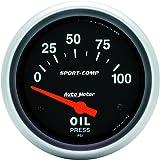 Auto Meter 3522 Sport-Comp Electric Oil Pressure Gauge
