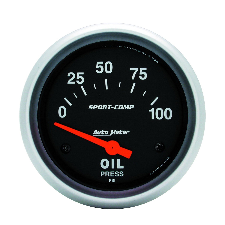 Auto Meter 3522 2-5/8' 0-100 PSI Short Sweep Electric Oil Pressure Gauge