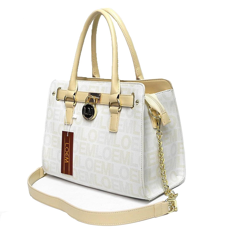 LOEM brand lock logo belt key shoulder Bag handbag designer inspired