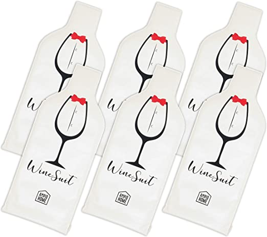 Accessory Gift Travel Wine- 4 Pack Reusable Wine Bottle Protector Sleeve Travel Bag Pack in Luggage Suitcase Inner Skin Tough Leak Proof Outside