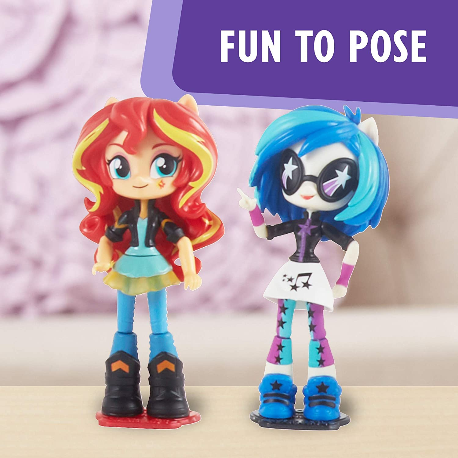 My Little Pony Equestria Girls Toys 6-Pack: Starlight Glimmer Pinkie Pie Daring Do Dazzle Rarity Hasbro and DJ Pon-3 Mini-Dolls Exclusive Import C0410AF1 Sunset Shimmer