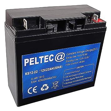 PELTEC @ AGM GEL batería de plomo 12 V 20 Ah Adecuado para sillas ...