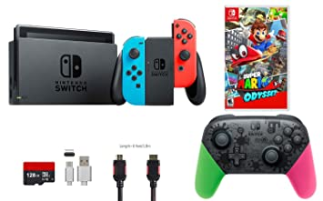 Nintendo Switch Pack (6 piezas): 32 GB Consola Neon Rojo ...