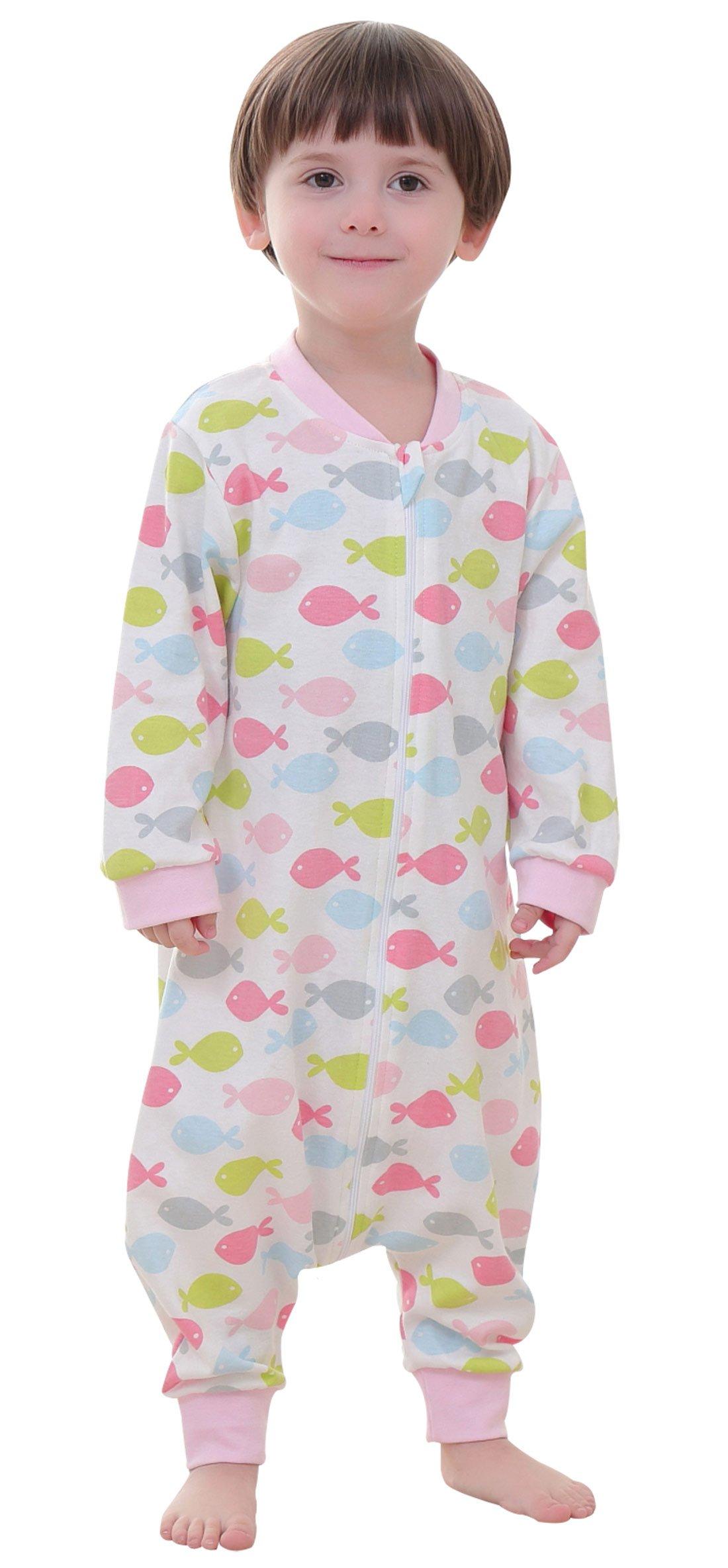 Toddler Baby Sleeping Bag Spring Summer Kids Sleepwear Organice Cotton Animal Sleep Bag Cute 1-2T L
