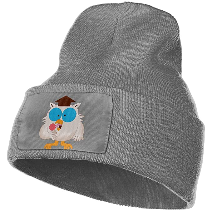 3f1e82888ff Amazon.com  Mr. Owl Tootsie Roll Unisex Adult Beanie Hat Knitted Hats  Winter Outdoor Fashion Slouchy Warm Caps Deep Heather  Clothing