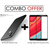 "WOW Imagine All Angle Protection ""360 Degree"" Ultra-Slim Fit Non-Slip Anti-Scratch Resistant Shell Rubberised Matte Hard Case Back Cover For XIAOMI MI REDMI Y2 (June 2018 Launch) - Pitch Black"
