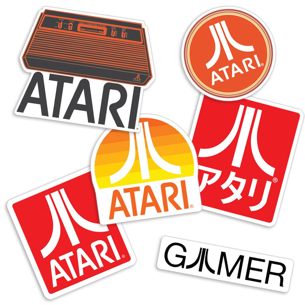 Amazon com popfunk atari classic video game console collectible logo sticker set home kitchen