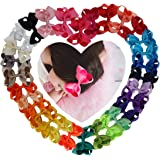 Ncmama Baby Girls Boutique Grosgrain Ribbon Hair Bows Big Alligator Clips for Teens Kids