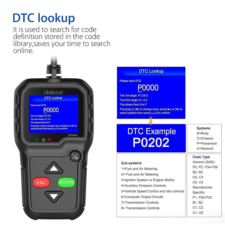 obdator OBD2 Scanner KW680 OBDII//EOBD Automotive OBD OBDII Code Reader Car Check Engine Light Diagnostic Scan Tool