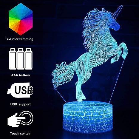 Amazon.com: WHATOOK - Lámpara de mesa con iluminación óptica ...